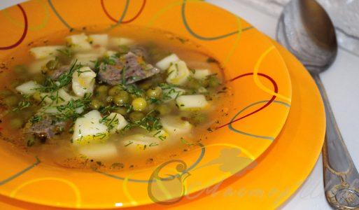 Суп с галушками и зеленым горошком от МастерШефа