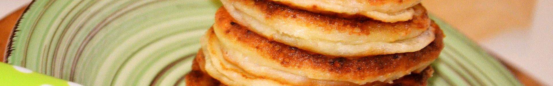 Оладьи с творогом и сыром