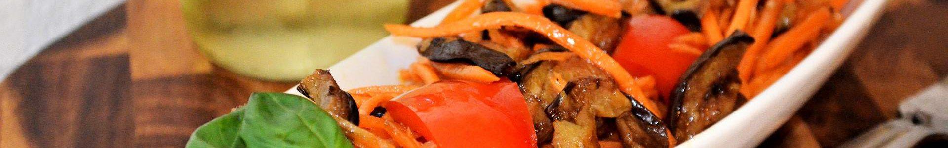 Салат с морковью по-корейски и баклажанами