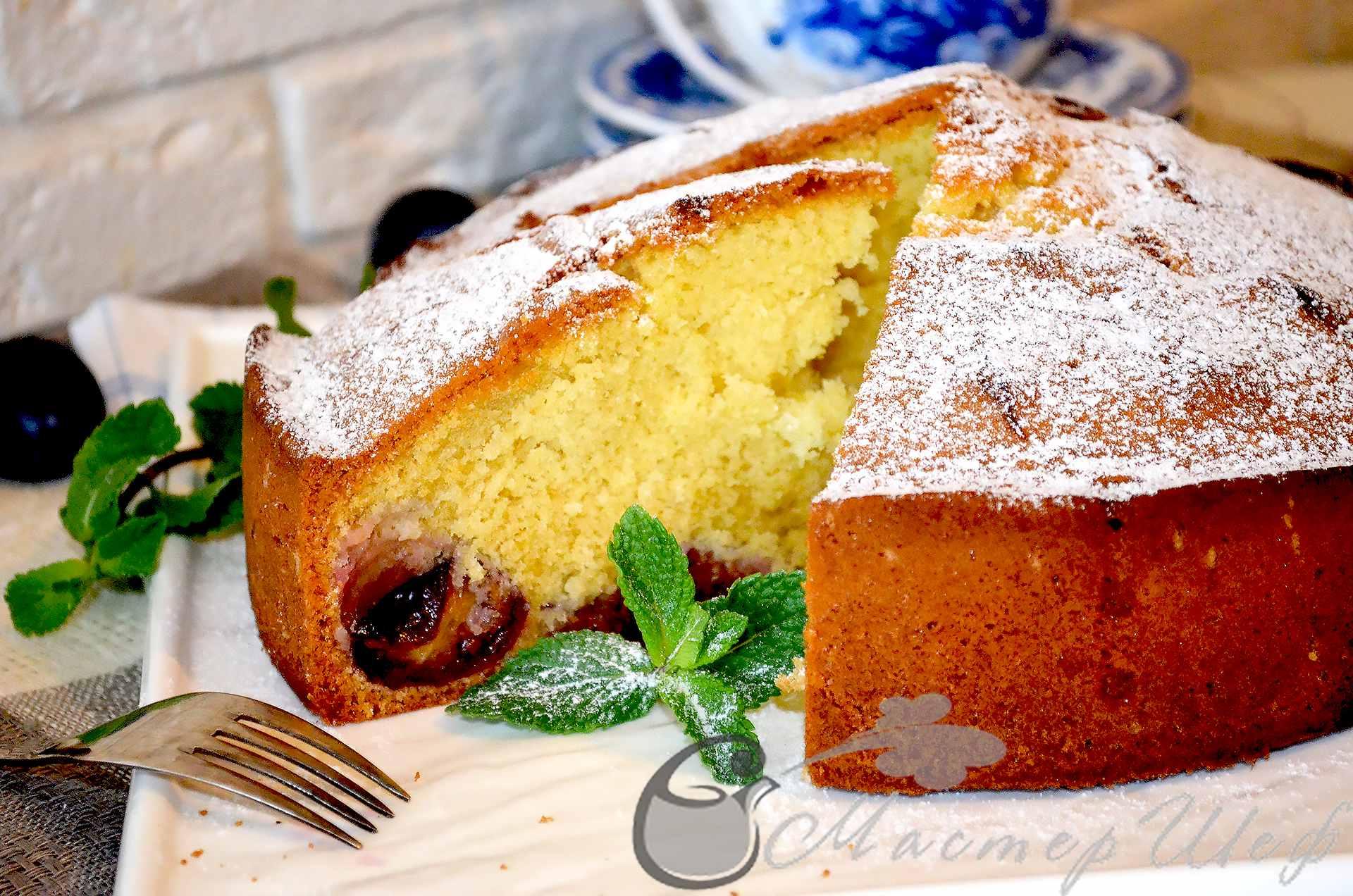 Нежный пирог со сливами рецепт