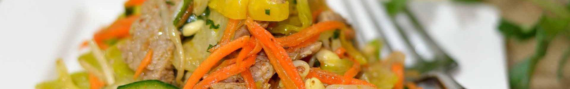 Мясной тайский салат