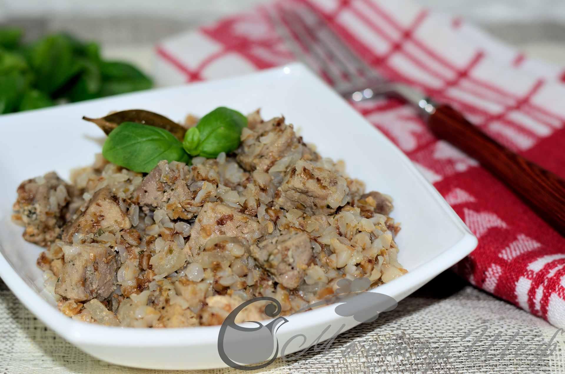 Говядина в духовке с гречкой рецепт пошагово с