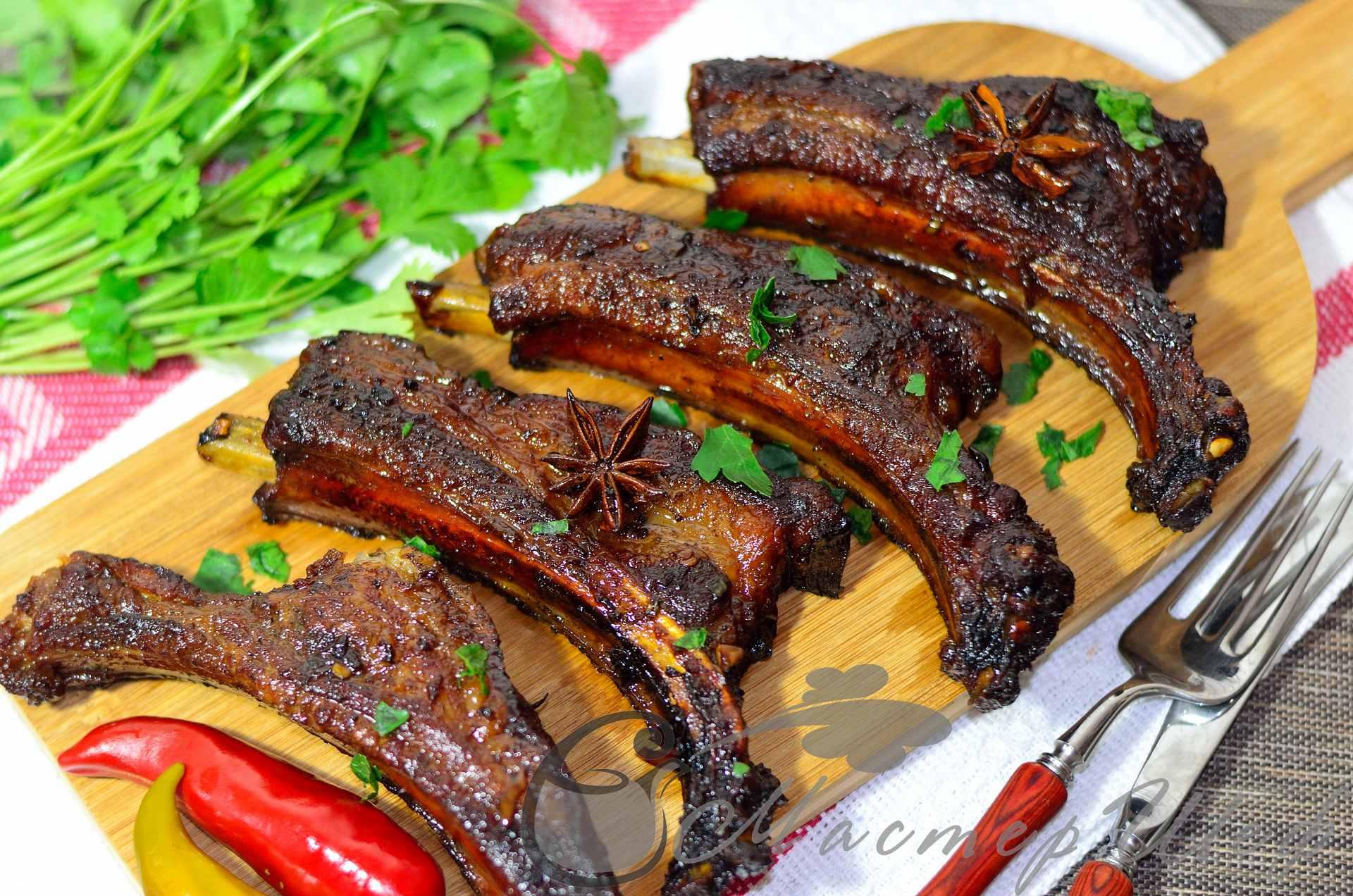 Блюда из копченых свиных ребрышек рецепты простые и вкусные