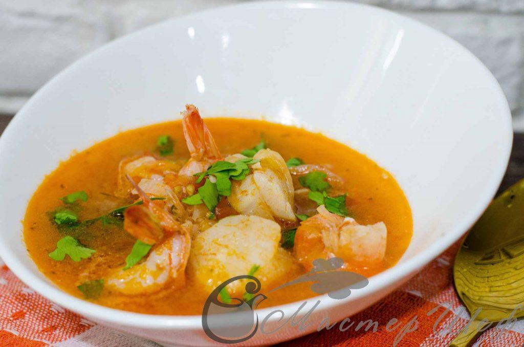 Суп с креветками по-средиземноморски
