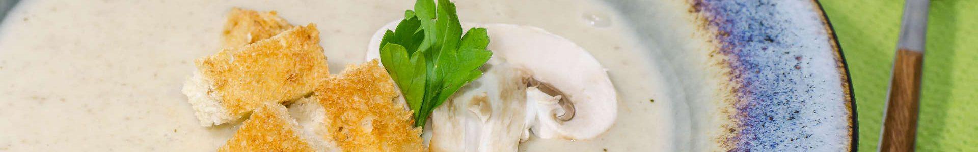 Сырный крем-суп из шампиньонов