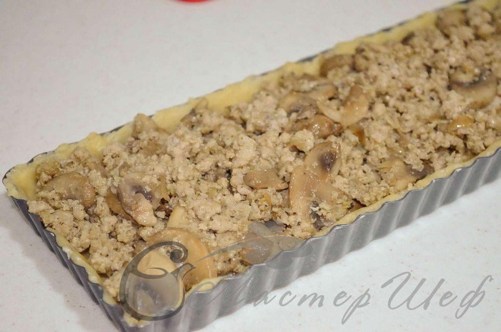 Рецепт - Пирог с мясом и грибами - ШАГ 8