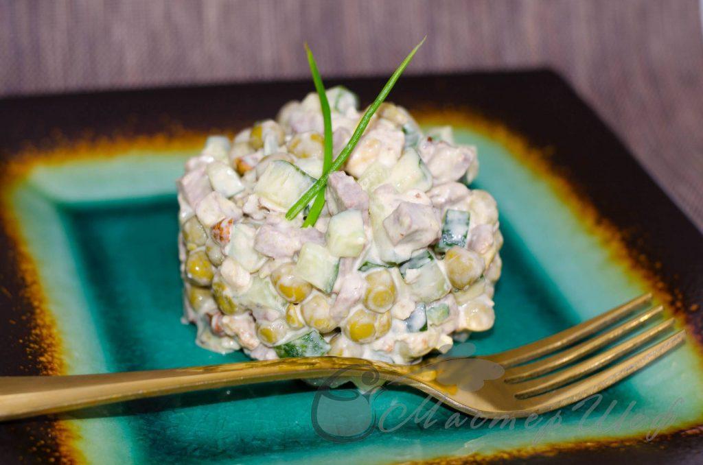 Салат с говядиной и грецкими орехами - рецепт