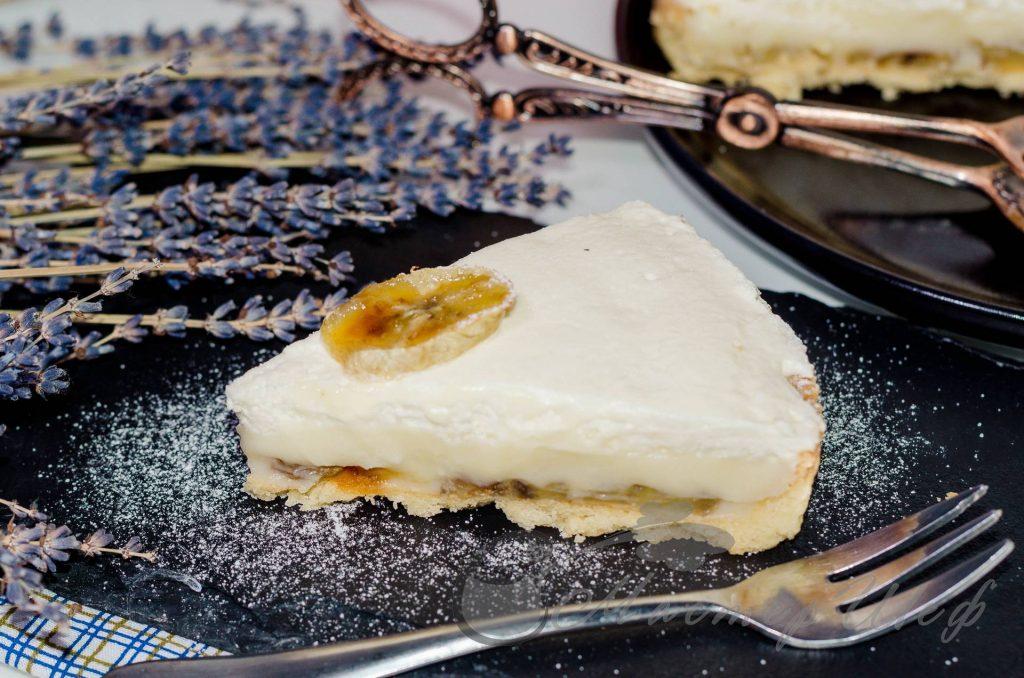 Сливочно-банановый пирог - рецепт
