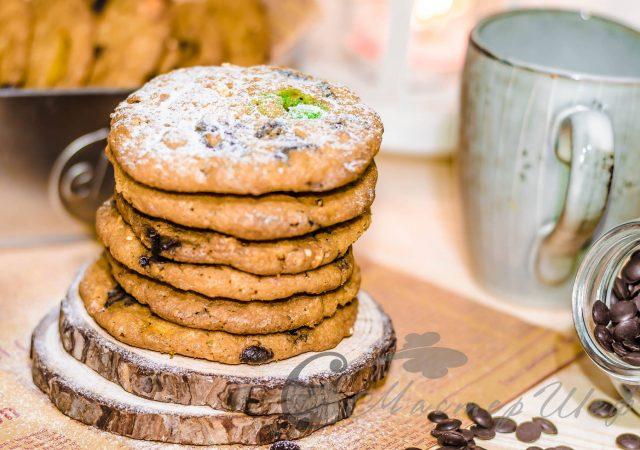 Овсяное печенье с m&m's