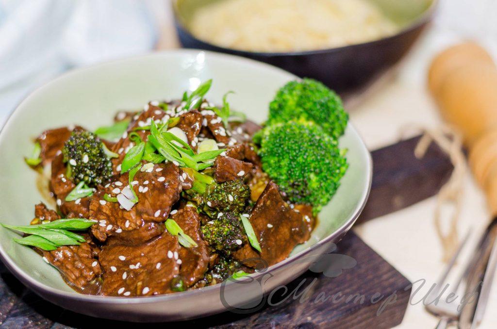 Говядина с брокколи по-китайски - рецепт