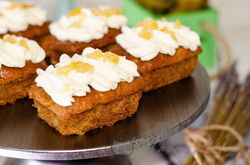 Имбирно - грушевые кексы -рецепт