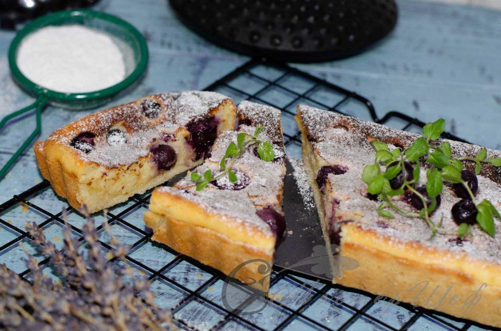 Творожно-черничный пирог - рецепт