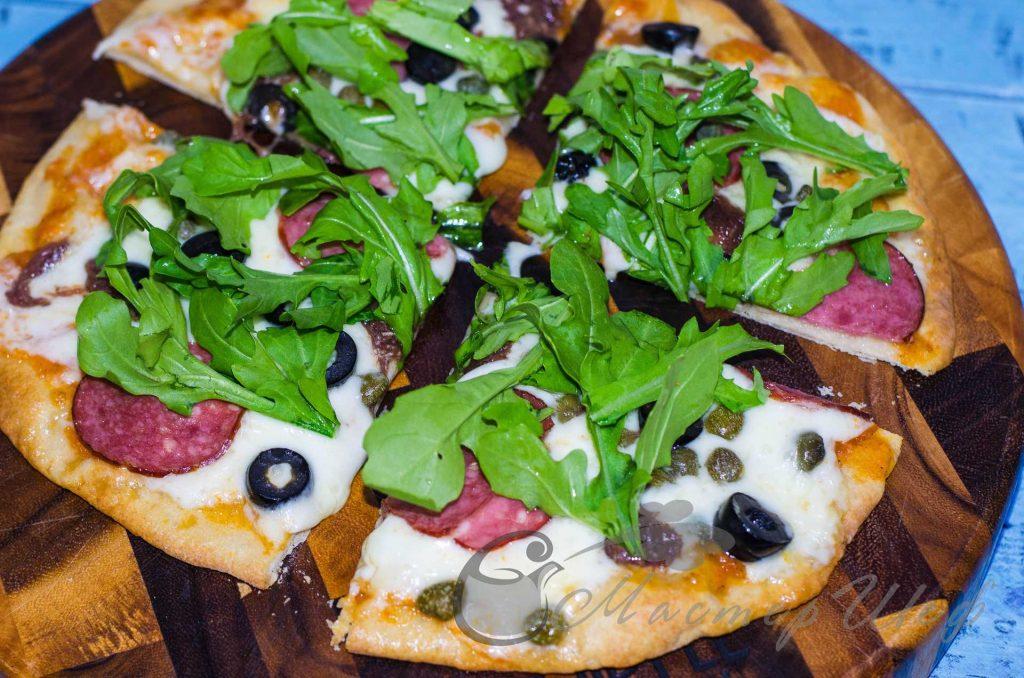 Тонкое хрустящее тесто для пиццы - рецепт