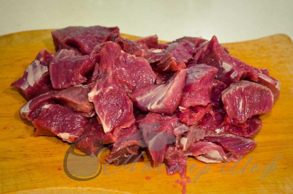 ШАГ 1 - Мясо по-бургундски