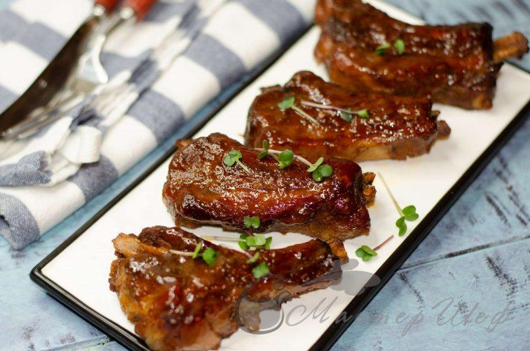 Свиные ребра в соусе - рецепт