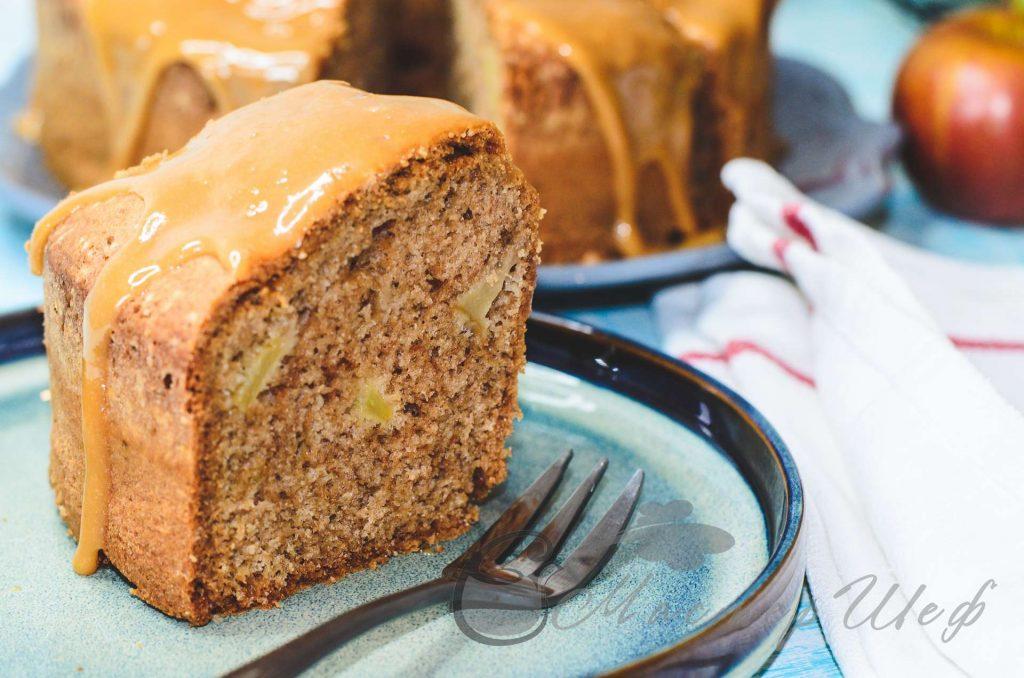 Карамельный яблочный пирог - рецепт