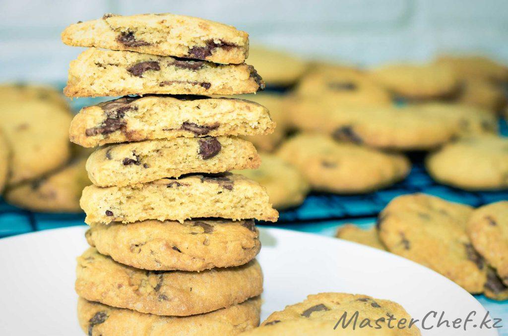 Арахисовое печенье с шоколадом - рецепт