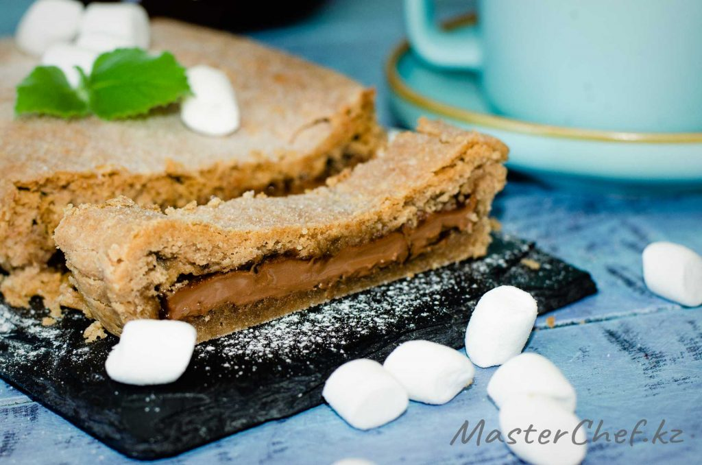 Пирог с шоколадом и маршмеллоу - рецепт