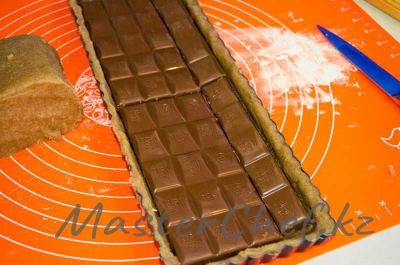 ШАГ 5а - Пирог с шоколадом и американским зефиром