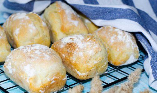Мини чиабатта или деревенский хлеб 🍞