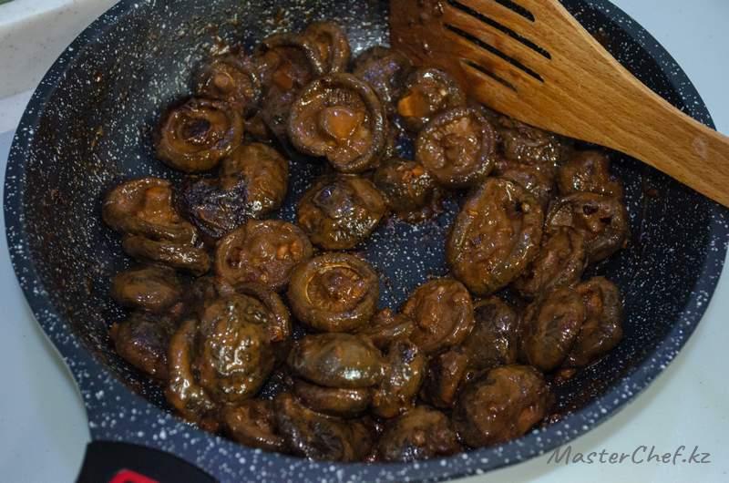 ШАГ 3 - Закуска из грибов шиитаке